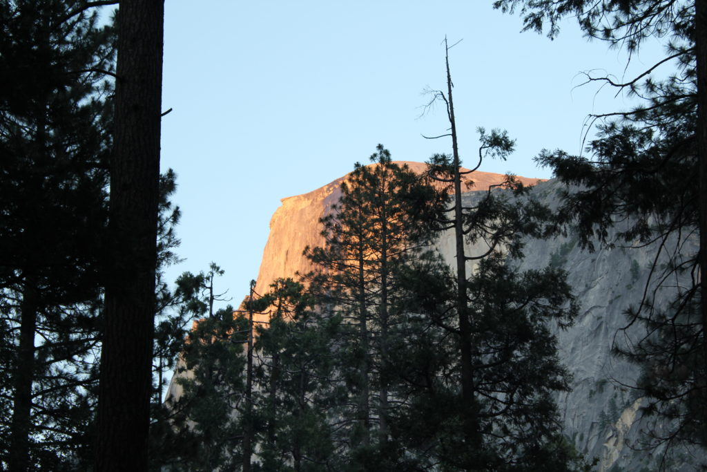 Half Dome view from Lower Pines Campground